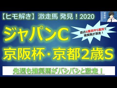 <ジャパンカップ&京阪杯&京都2歳ステークス>【ヒモ解き】激走馬 発見!2020