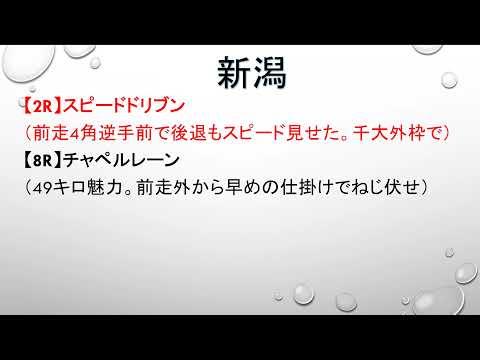 【注目馬列挙】2021年8月1日の平場・特別戦!