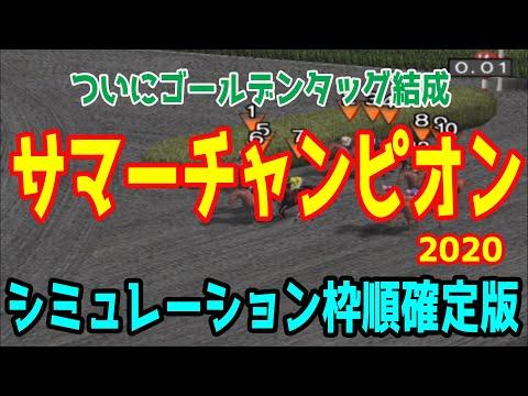 2020 サマーチャンピオン シミュレーション 枠順確定【競馬予想】地方競馬